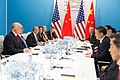 President Donald J. Trump and President Xi Jinping at G20, July 8, 2017.jpg