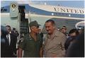 President Lyndon B. Johnson in Vietnam, With General William Westmoreland - NARA - 192515.tif