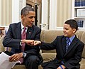 President Obama greets Make-a-Wish child Diego Diaz - June 23 2011 (cropped).jpg