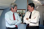 President Ronald Reagan Talks with Newt Gingrich During a Trip Via Air Force One to Atlanta Georgia.jpg