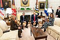 President Trump and the First Lady Visit with the Prime Minister of the Hellenic Republic and Mrs. Mareva Grabowski-Mitsotakis (49351250376).jpg