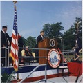 President addresses American University Commencement, receives honorary degree. President Kennedy at Podium... - NARA - 194263.tiff