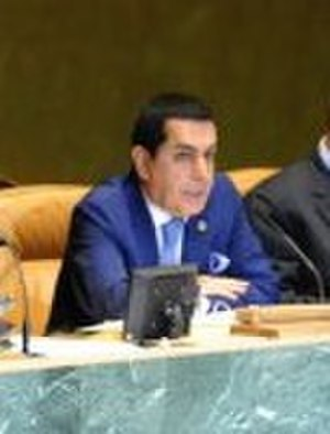 Nassir Abdulaziz Al-Nasser - President Nassir Abdulaziz Al-Nasser presiding over the United Nations General Assembly at the General Assembly Hall.