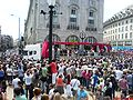 Pride London parade in Picadilly Circus 2009.jpg