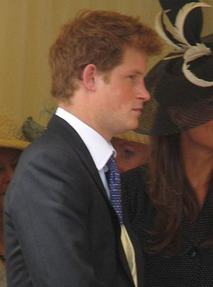Prince Harry at the Garter Procession