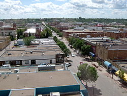 Downtown Prince Albert, viewed from the Macintosh Mall