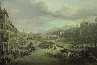 Princes Street - Princes Street 1825 by Alexander Nasmyth