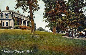 Prospect Park, Reading - Prospect Mansion in 1910.