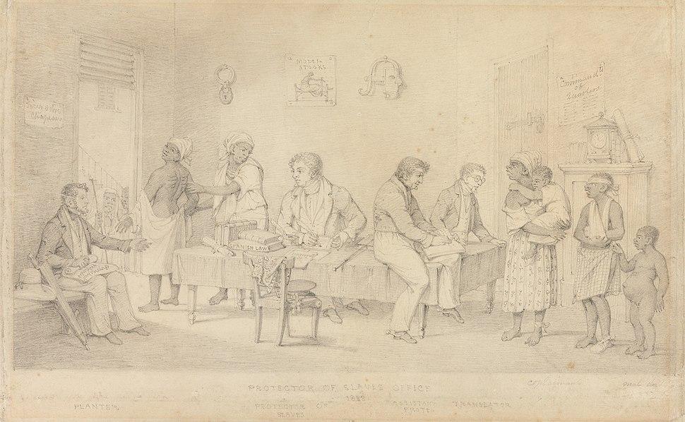 Protector of Slaves Office (Trinidad) by Richard Bridgens