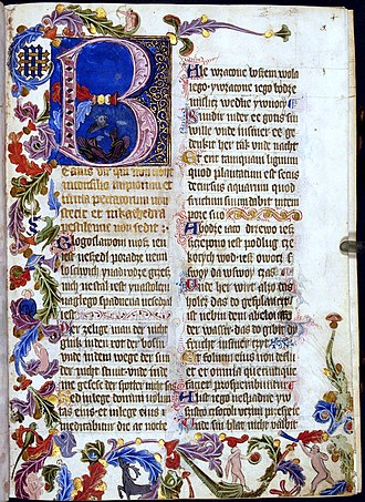 Jadwiga of Poland - Saint Florian's Psalter, commissioned by Jadwiga in around 1370, held in the National Library of Poland in Warsaw