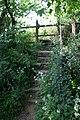 Public footpath off Coombe Lane - geograph.org.uk - 468842.jpg
