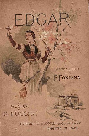 Edgar (opera) - Cover of the libretto
