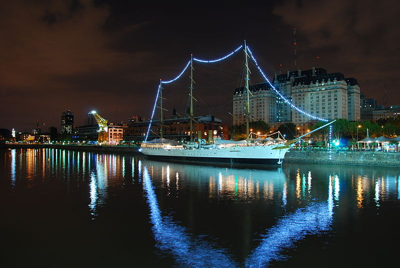 File:Puerto Madero, Night.JPG