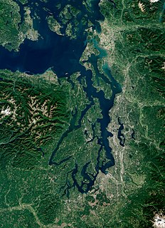 Puget Sound Deep water sound of the Salish Sea in northwestern Washington, United States