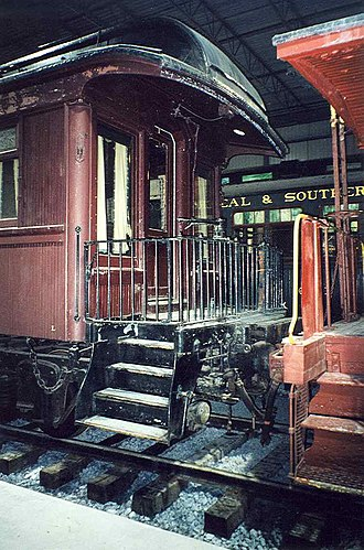 Canadian Railway Museum - Image: Pullman cars at Delson