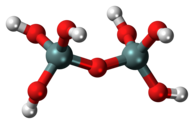 Ball-and-stick model of the pyrosilicic acid molecule