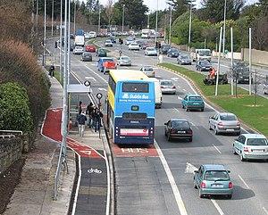 Quality Bus Corridor - A 46a on the N11 QBC at Foxrock