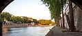 Quai de Seine soleil couchant, Paris mai 2014.jpg