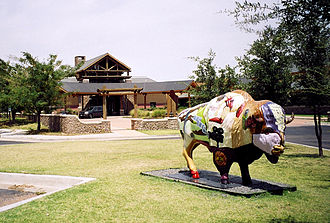 Quartz Mountain Resort Arts and Conference Center - The entrance to the main building at the resort.