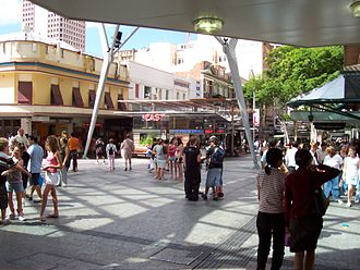 Queen Street bus station - Image: Queen St Mall