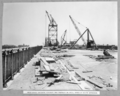 Queensland State Archives 3902 Reinforced concrete roadway and footway on steel spans of south approach Brisbane 13 December 1938.png