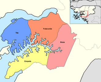 Quinara Region - Sectors of Quinara