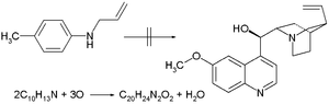 Quinine total synthesis - Attempt at quinine by William Perkin