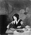 Quiringh Gerritsz van Brekelenkam - Old Woman at her Meal - KMS2067 - Statens Museum for Kunst.jpg