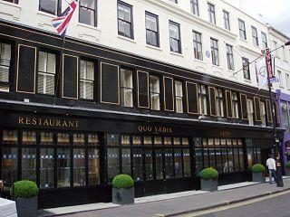 Quo Vadis (restaurant) Restaurant in Dean Street, Soho, London