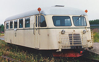 Railbus Lightweight passenger rail vehicle that shares many aspects of its construction with a bus