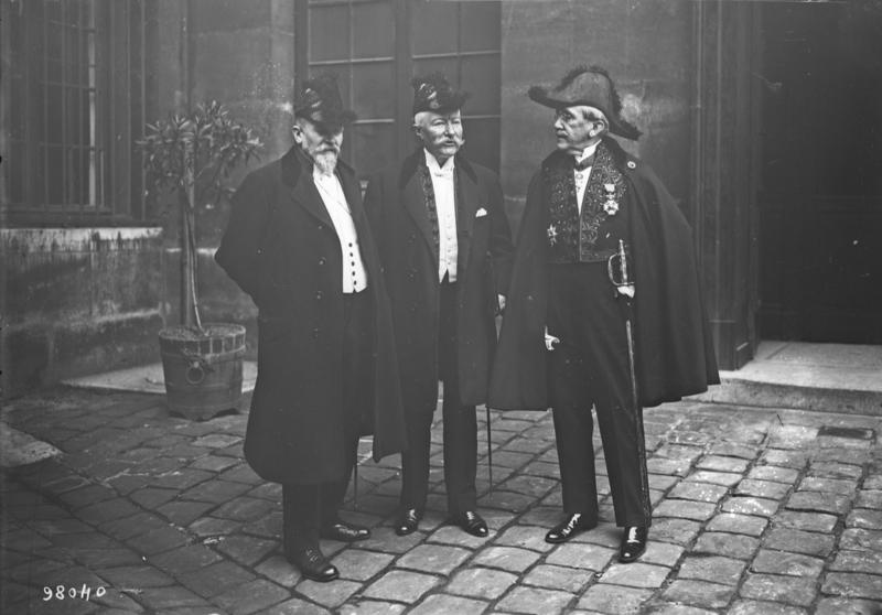 File:Réception de M. Jonnart à l'Académie - Henri Robert, Charles Jonnart, René Doumic.png