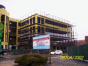 Red Bank, New Jersey - New office building construction on West Front Street