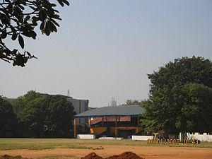 Royal College, Colombo - The J.R. Jayawardene Pavilion at the main cricket grounds.