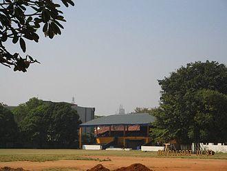 Royal College, Colombo - The J.R. Jayawardene Pavilion at the main cricket grounds.
