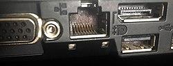 RJ-45 Ethernet socket on Lenovo T410 Laptop.jpg