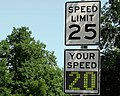 Radar speed sign - close-up - under limit.jpg