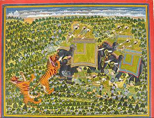 Raghuraj Singh hunting tigers Datia,
