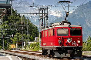 Rhaetian Railway Ge 4/4 I - Ge 4/4 I No. 606 Kesch at Thusis, 2009.