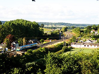 Transport in Wales - Arriva Trains Wales at the potential re-opened station of Pontrilas, also on the Welsh Marches Line