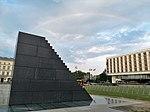 Rainbow for the President Kaczyński (tęcza dla prezydenta Kaczyńskiego) Pomnik Smoleński Warszawa (1).jpg