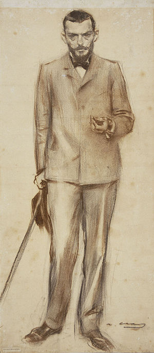Josep Llimona i Bruguera - Josep Llimona seen by  Ramon Casas (MNAC).