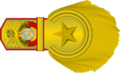Rank insignia of генералиссимус Советского Союза rotated.png