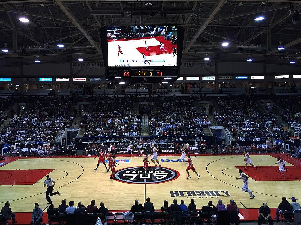 Raptors 905 Inaugural Home Opener Hershey Centre