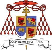 Escudo del Cardenal Ratzinger, Arzobispo de Munich y Freising