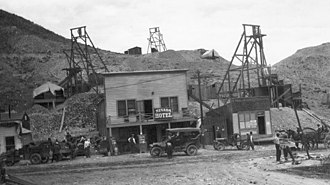 Gold mining in Nevada - Rawhide, Nevada, 1915