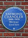 Raymond Chandler - 1888 - 1959 Writer lived here.jpg