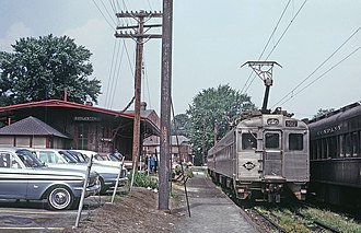 Lansdale/Doylestown Line - A Reading Company Silverliner II at Doylestown in 1970