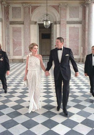 8th G7 summit -  Nancy and Ronald Reagan at the gala at the Grand Trianon.
