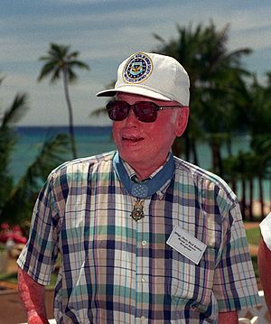 Henry E. Erwin - Erwin in 1995 at a ceremony commemorating the 50th anniversary of the end of World War II