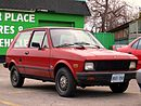 Red Yugo GV in Junction Triangle, Toronto, Canada 2.jpg